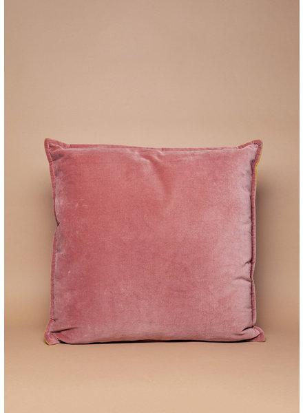 Blush & Gold Reversible Velvet Pillow