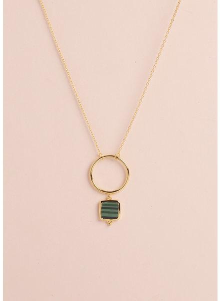 Malachite Channing Drop Pendant Necklace