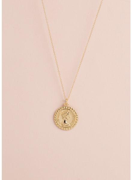 Queen Coin Pendant Necklace