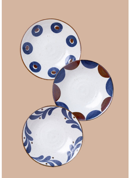 Large Stoneware Patterned Plates