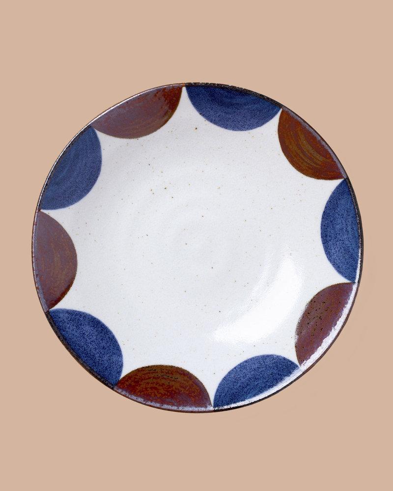 Large Stoneware Patterned Plates