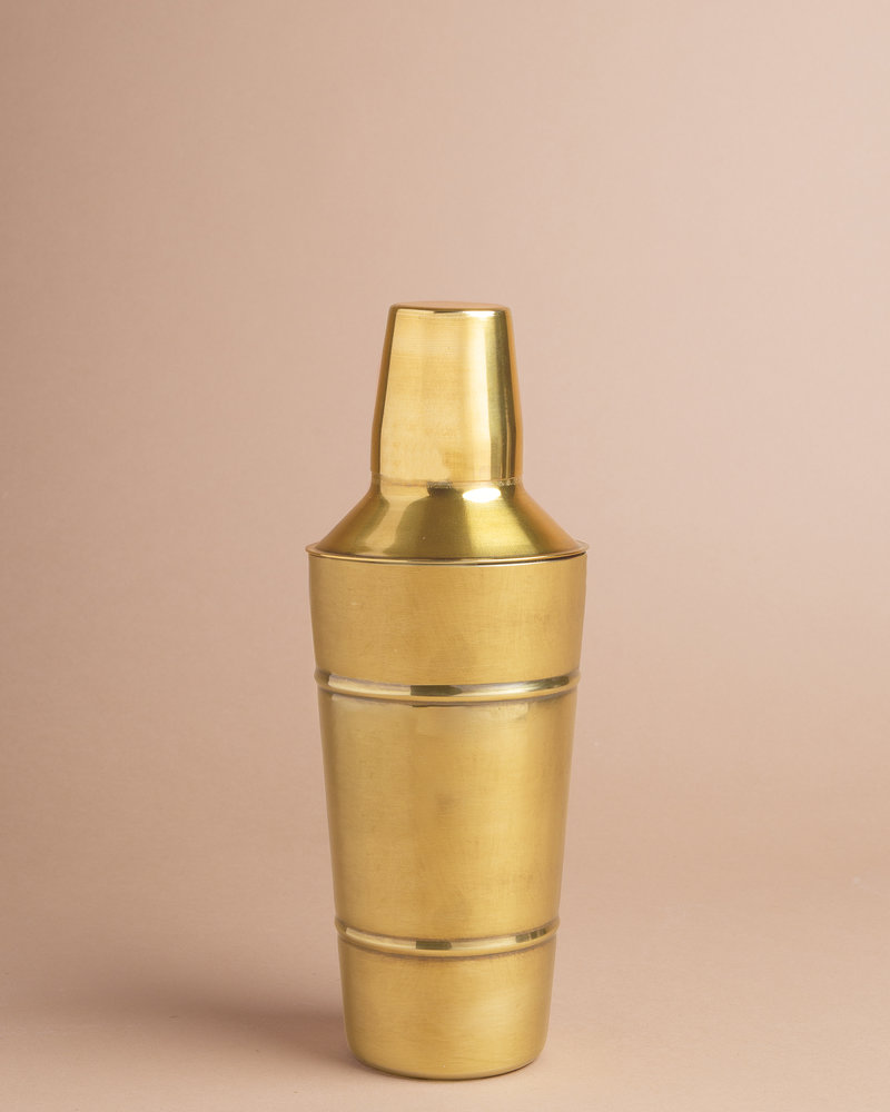 Classic Brass Cocktail Shaker