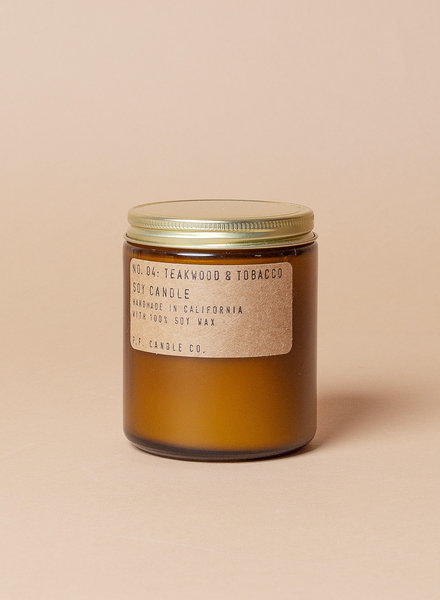 P.F. Candle Co. Soy Candles - Teakwood & Tobacco
