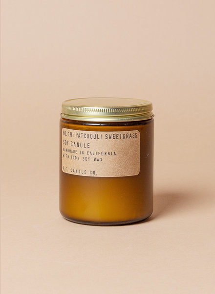 P.F. Candle Co. Soy Candles - Patchouli Sweetgrass
