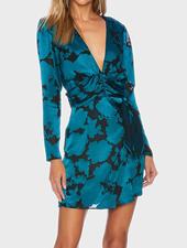 Teal Burnout Taylor Dress