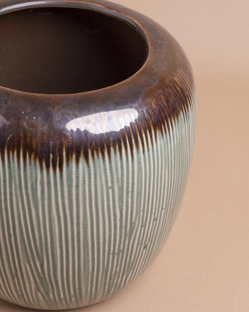 Jade Glazed Ceramic Vase