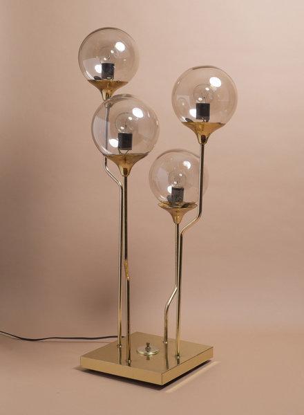 Mid Century Brass Table Lamp