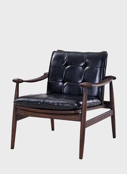 New Pacific Direct Harvey Bonded Leather Tufted Arm Chair