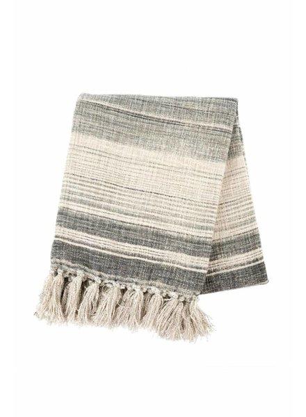 Indaba Stripe Tassel Throw
