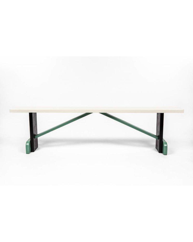 Eskell White Multi-Color Bench