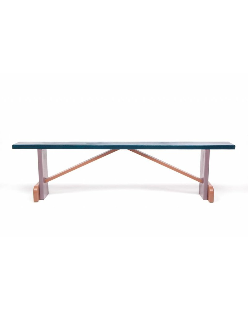 Eskell Navy Multi-Color Bench