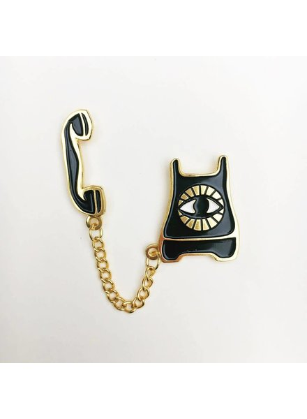 Native Bear Native Bear- Psychic Phone Pin