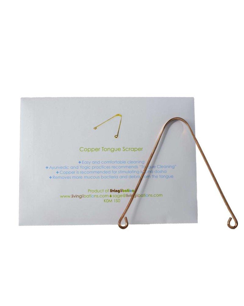 Living Libations Living Libations | Tongue Scraper| Copper