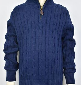 ELAND 1/4 ZIP CABLE SWEATER