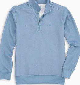 SOUTHERN TIDE SHARK SKIN PERF 1/4 ZIP PULLOVER