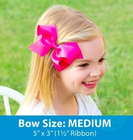 wee ones MEDIUM BASIC GROSGRAIN BOW