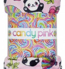 CANDY PINK/120 CLOTHING CO PANDA BLANKET