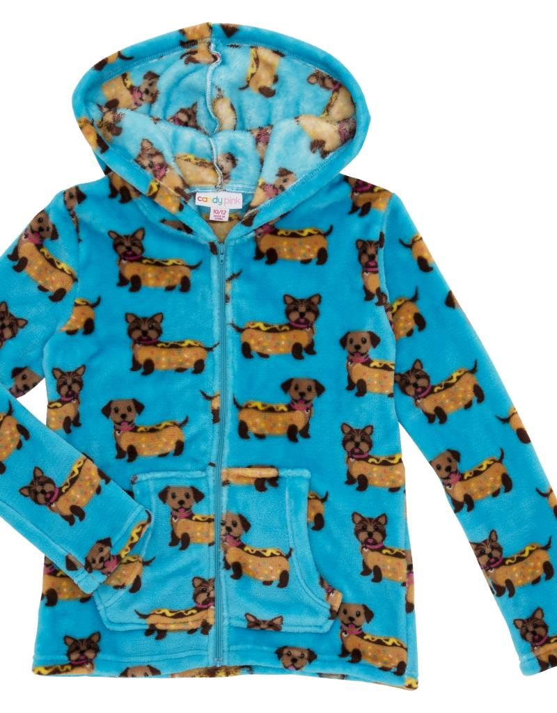 CANDY PINK/120 CLOTHING COM CANDY PINK HOT DOG HOODIE