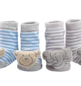 ELEGANT BABY BOYS AND GIRLS RATTLE SOCKS 2PK