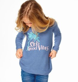 CHASER COZY KNIT RAGLAN PULLOVER - GOOD VIBES