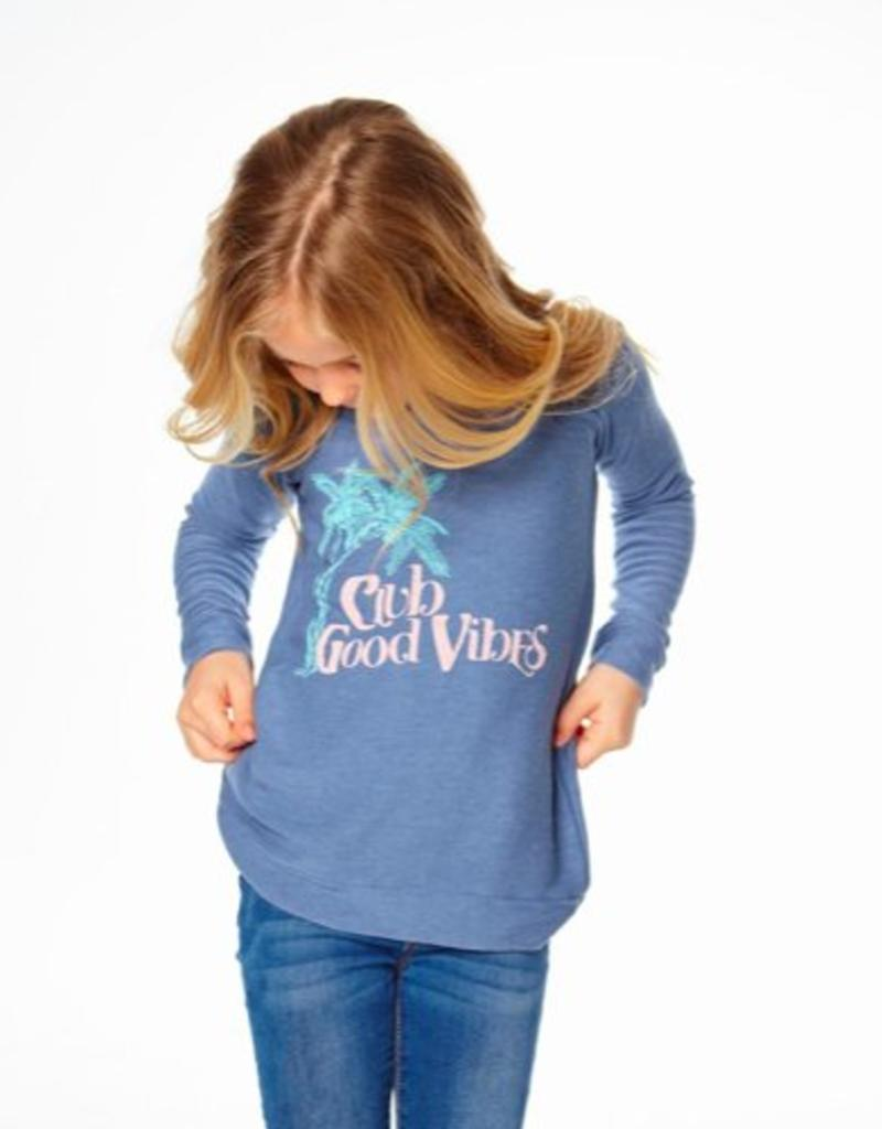 CHASER CHASER COZY KNIT RAGLAN PULLOVER - GOOD VIBES