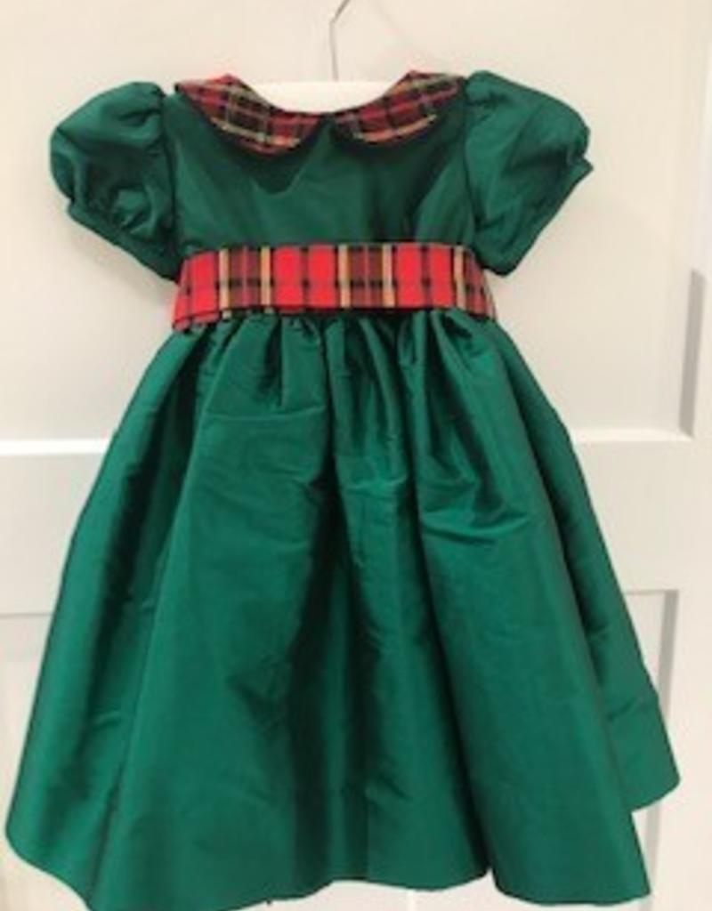 SUSANNE LIVELY SUSANNE LIVELY DRESS WITH PLAID COLLAR & SASH