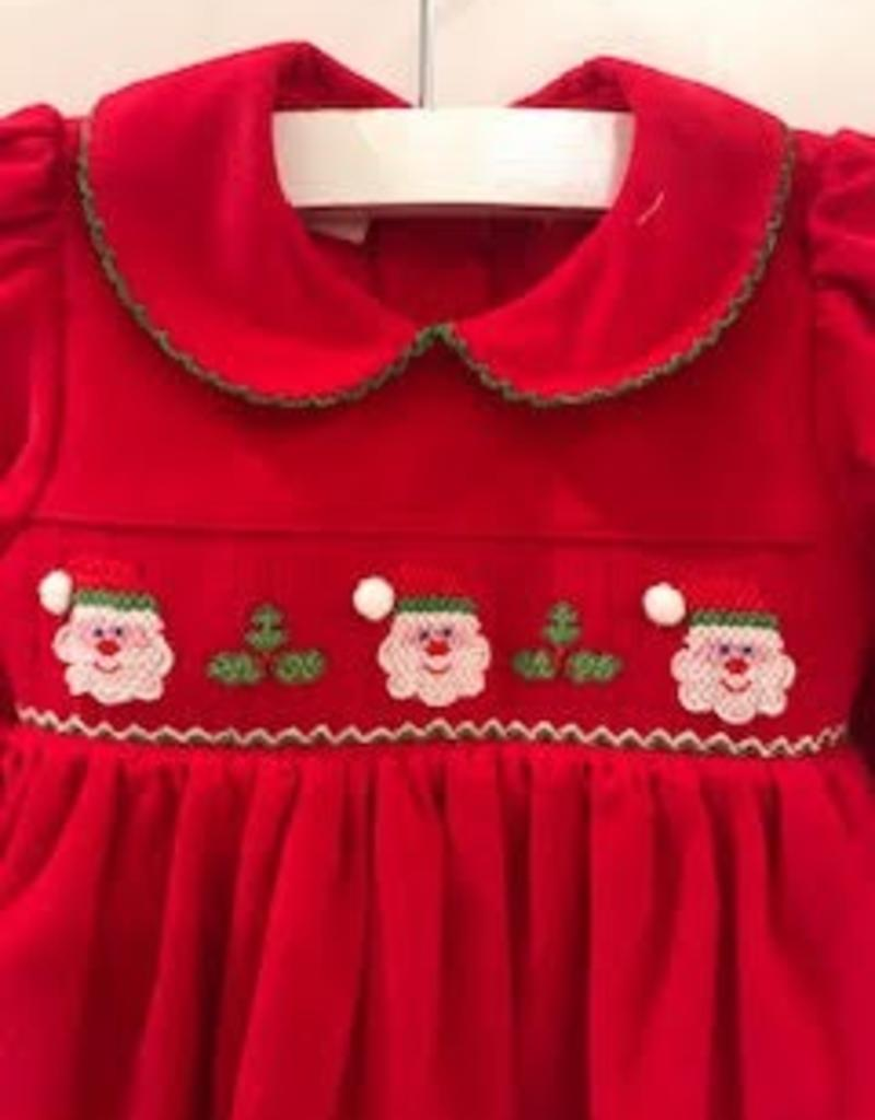 PETIT BEBE SANTA'S FACE DRESS