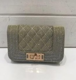 AMIANA ACCESS.INC QUILTED FLAP PURSE