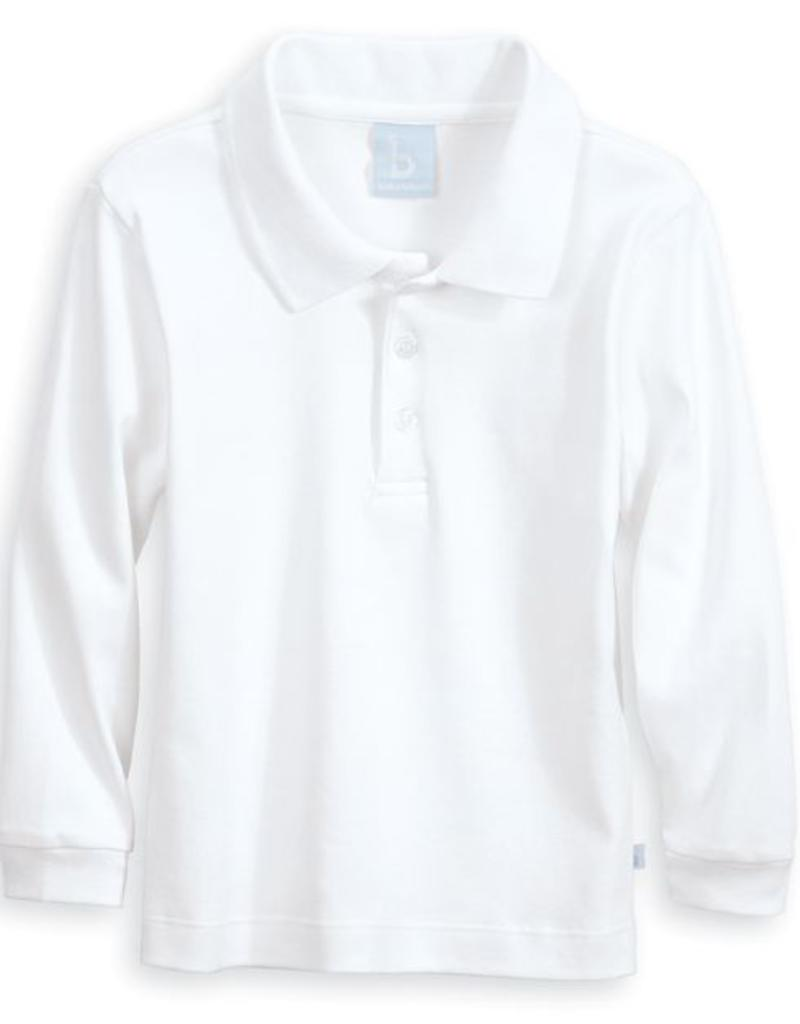 BELLA BLISS BELLA BLISS SOLID LONG SLEEVE POLO SHIRT