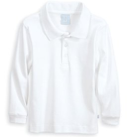 BELLA BLISS SOLID LONG SLEEVE POLO SHIRT
