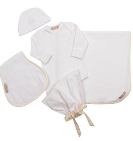 BEAUFORT BONNET CO UNISEX DARLING DEBUT GIFT SET/GOWN & HAT & BURP CLOTH/BLANKET