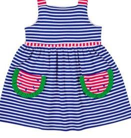 FLORENCE EISEMAN ALOHA KNIT DRESS W/WATERMELONS