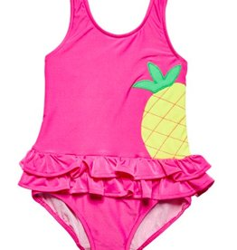 FLORENCE EISEMAN SOLID SUITS PINEAPPLE 1PC SWIMSUIT