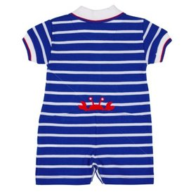 FLORENCE EISEMAN HAPPY AS A CLAM KNIT SHORTALL W/CRAB