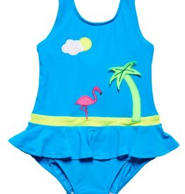 FLORENCE EISEMAN SOLID SUITS FLAMINGO 1PC SWIMSUIT