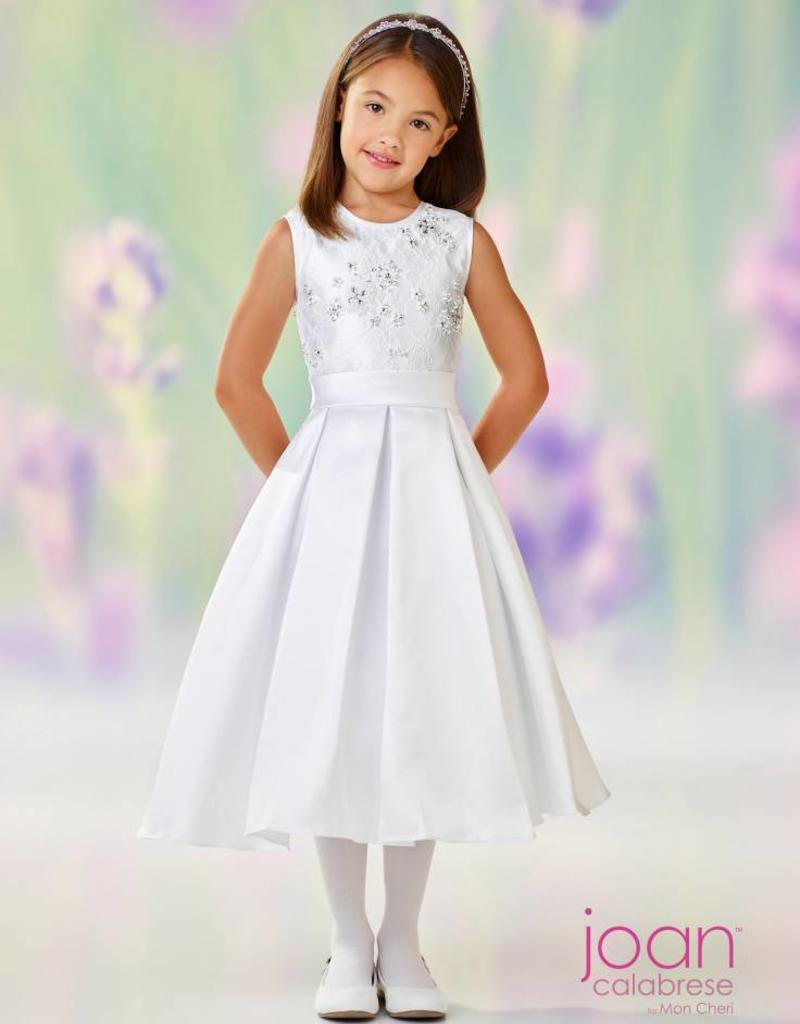 JOAN CALABRESE JOAN CALABRESE GIRLS MIKADO & LACE DRESS
