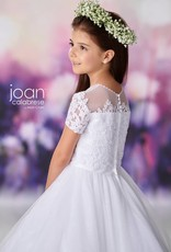 JOAN CALABRESE JOAN CALABRESE SATIN/TULLE/SEQUIN TULLE & LACE DRESS
