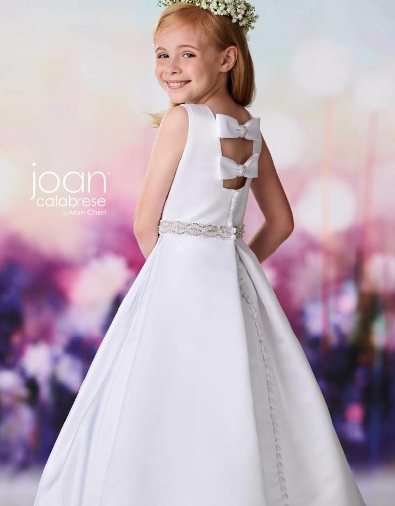 JOAN CALABRESE JOAN CALABRESE SATIN DRESS W/POCKETS