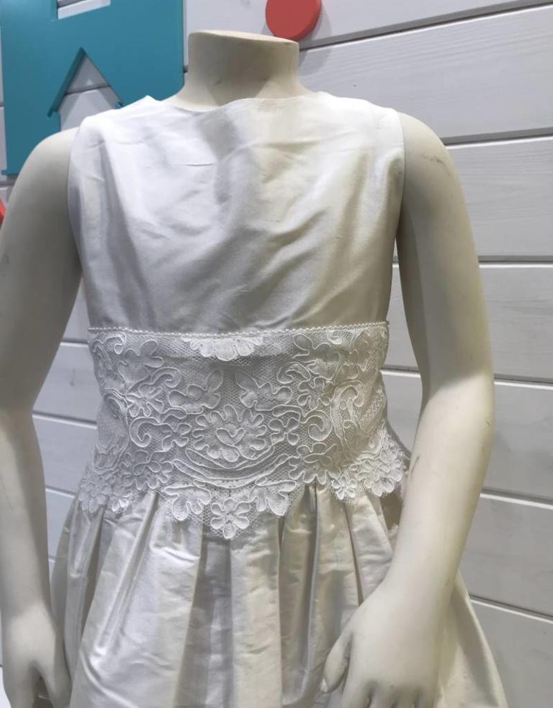 SUSANNE LIVELY SUSANNE LIVELY GIRLS SILK W/LACE WAIST DRESS