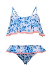 SNAPPER ROCK SNAPPER ROCK GIRLS COTTAGE FLORAL FLOUNCE BIKINI