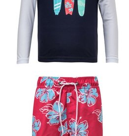 SNAPPER ROCK SURFBOARD TRUNKS & RASHGUARD SHIRT