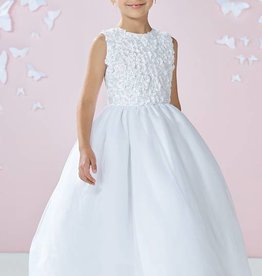 JOAN CALABRESE TULLE, ORGANZA & TAFFETA DRESS
