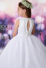 JOAN CALABRESE JOAN CALABRESE GIRLS SATIN & TULLE DRESS