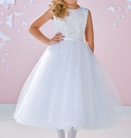 JOAN CALABRESE SATIN,TULLE & SEQUIN TULLE DRESS