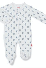 MAGNIFICENT BABY MAGNIFICENT BABY BOYS BLUE OPEN SKY ORGANIC COTTON FOOTIE