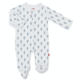 MAGNIFICENT BABY BOYS BLUE OPEN SKY ORGANIC COTTON FOOTIE