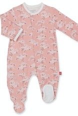 MAGNIFICENT BABY MAGNIFICENT BABY CHERRY BLOSSOM MODAL FOOTIE