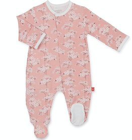 MAGNIFICENT BABY CHERRY BLOSSOM MODAL FOOTIE