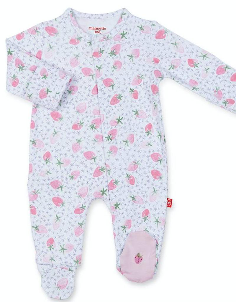 MAGNIFICENT BABY MAGNIFICENT BABY STRAWBERRIES & CREAM FOOTIE