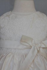 SUSANNE LIVELY SUSANNE LIVELY SILK DRESS W/LACE OVERLAY ON BODICE
